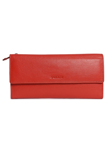 SADDLER red Trifold Wallet 18 Cards Zip Purses Red SA661AC82BWNHK_1