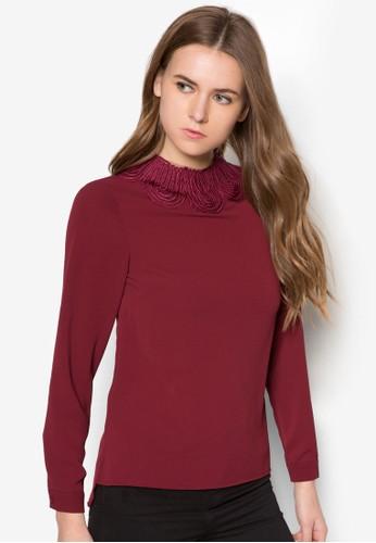 Coesprit 台北rnelli 邊飾高領長袖衫, 服飾, 服飾