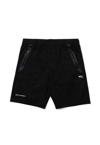 MUSIUM DIV black Zip pocket shorts D09B0AAFED5411GS_1