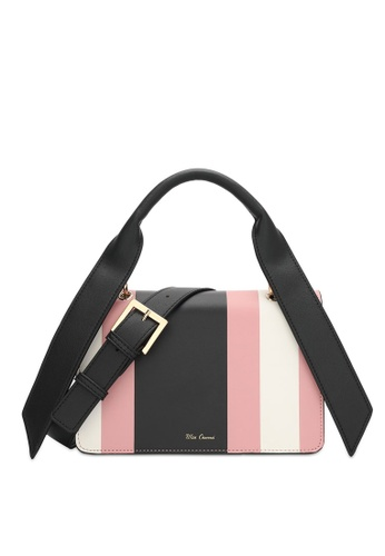 Wild Channel pink and multi Color Block Top Handle Bag 4214AAC89E4558GS_1