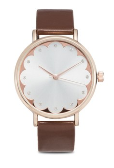 Scallop Hem Face Watch