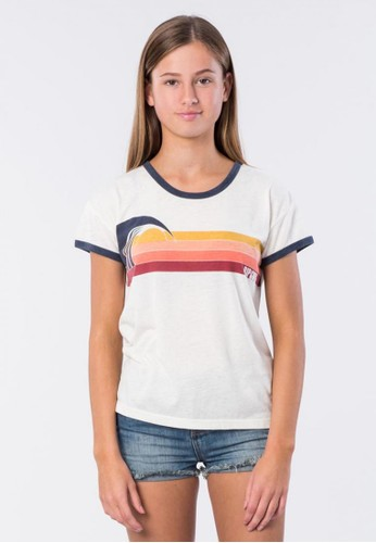 Rip Curl white Girl Last Wave Ringer DF214AA4EB6F5BGS_1