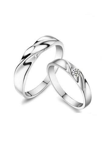 Elfi silver Elfi 925 Genuine Silver Couple Ring C11. Two Ring One Soul EL186AC25EZIMY_1
