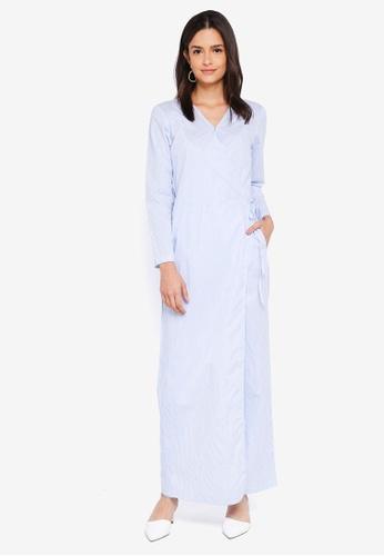 Zalia blue Wrap Jumpsuit DB50FAA7F72687GS_1