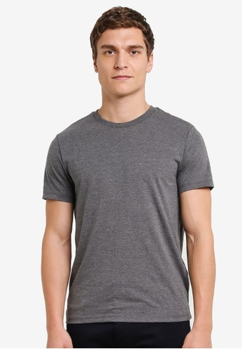 Burton Menswear London grey Charcoal Grey Crew Neck T-Shirt BU964AA0S5MKMY_1