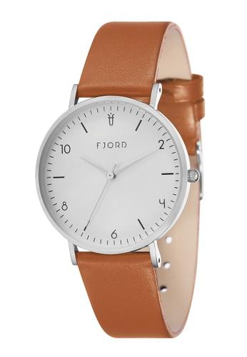 Fjord orange Fjord Women's Genuine Leather Watch - FJ-6037-05 D4EDDAC0626B46GS_1
