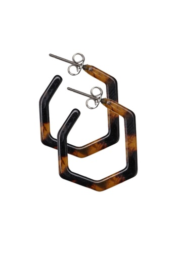 Pieces brown Jamillas Hoop Earrings 33E58ACF8F10E9GS_1
