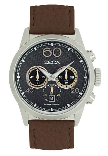 ZECA brown Zeca Watches Men Fashion Leather Analog - 240M Dark Brown ZE260AC05SKCSG_1