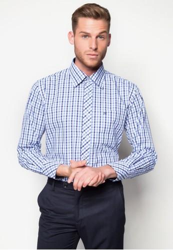 格紋esprit outlet 桃園長袖襯衫, 服飾, 襯衫