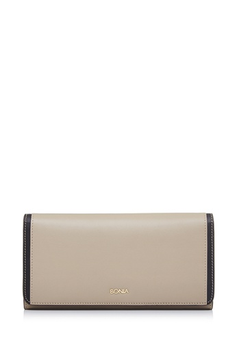 BONIA brown Khaki Astor Two Fold Wallet 92E1CACE48A3C2GS_1