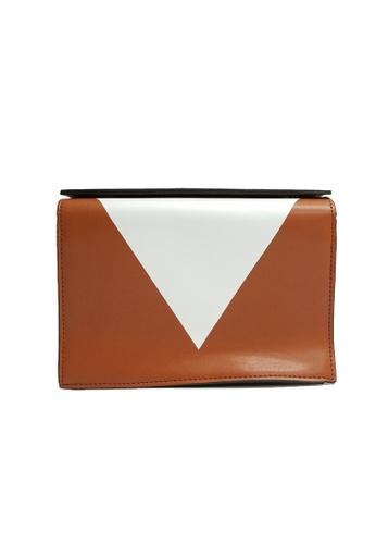 Lara brown Women's Color Block Crossbody Bag E7EEBAC6425F9AGS_1