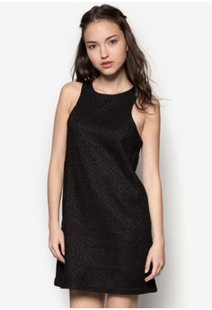 Cut In Lace Overlay Dress
