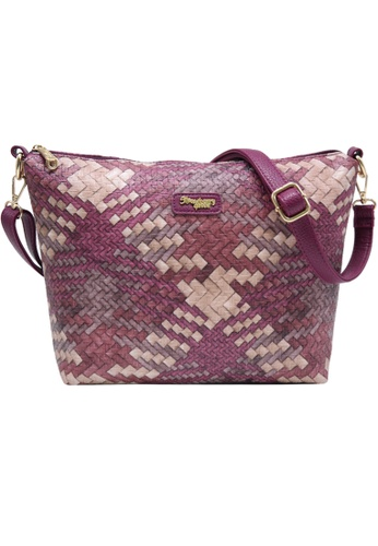 STRAWBERRY QUEEN purple Strawberry Queen Flamingo Sling Bag (Rattan AG, Magenta) E0DDBAC2085F8FGS_1