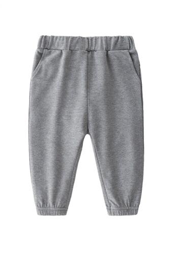 Kiddies Crew grey Little Trendsetter Bear Ears Flap Hip Hop Big Butt Boys Girls Baby Kids Long Pants With Pockets (Grey) A56B7KAA920039GS_1