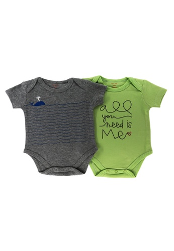 Mellow grey and green Mellow 2 Set Rompers 82AA2KAFB8432FGS_1