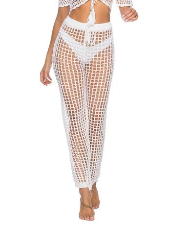LYCKA white LTH4052-European Style Beach Casual Pants-White E1FCDUS3B43E9EGS_1