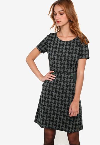 Caesprit outlet 台灣talana 圖樣印花短袖連身裙, 服飾, 洋裝