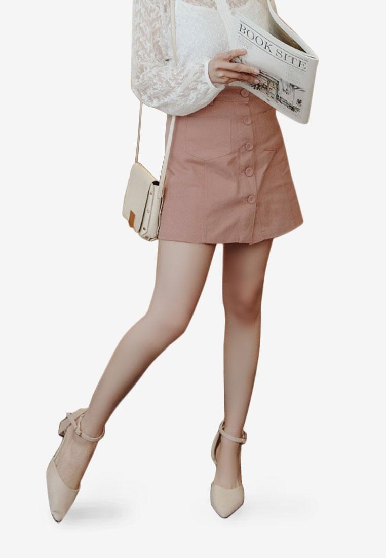 Down Line Button Pink Eyescream Skirt Mini A Ct5nRqw