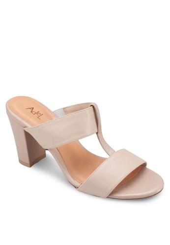 T字帶粗跟涼鞋, 女esprit outlet 高雄鞋, 中跟