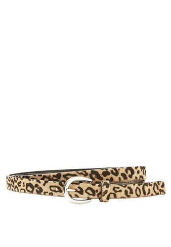 MARKS & SPENCER white and multi Leather Animal Print Hip Belt AC4A5AC0B31A66GS_1