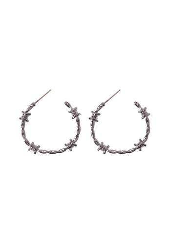 SKEDA silver Silver Knot Hoop Earrings 9DEEAACB1E34DEGS_1