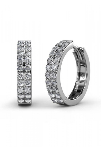 Her Jewellery silver Her Jewellery Glamour Ring Earrings embellished with Crystals from Swarovski 082E6AC20B6390GS_1