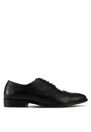 Acuto black Leather Dress Shoes AC283SH0SL6DMY_1