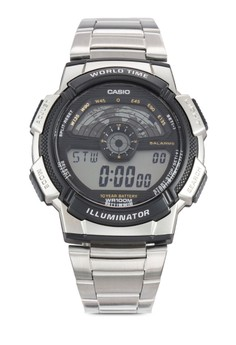 Casio-電子不銹鋼鍊錶