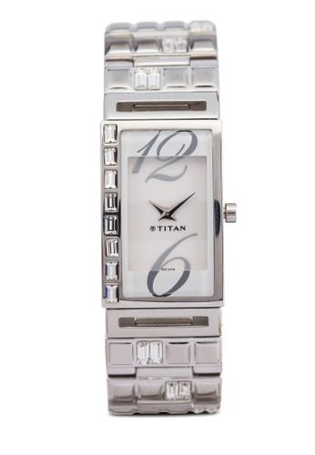 Titan 2508SM01 雙指針時尚鏈飾方形錶, 錶類esprit 京站, 時尚型