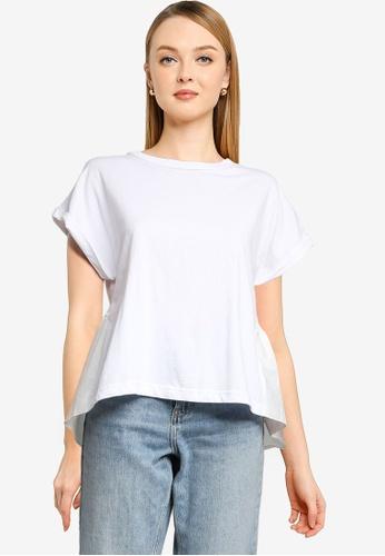 LOWRYS FARM white Ruched Detail T-shirt B215EAAD798E8FGS_1