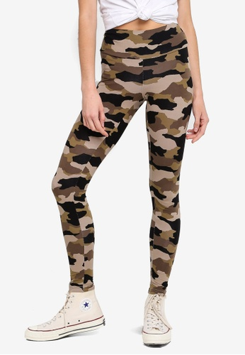 Cotton On multi and brown Tranquil Leggings D6AF7AAEF708DFGS_1
