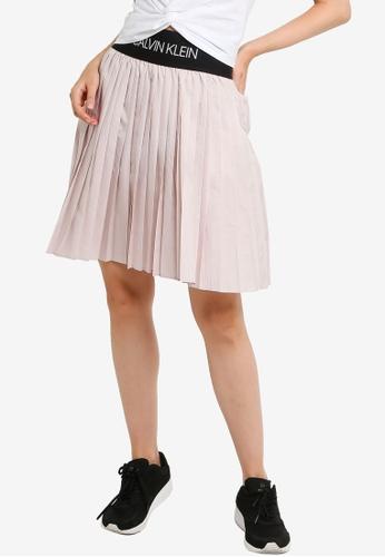 Calvin Klein purple Ai Pleated Skirt - Calvin Klein Performance 9BADDAAFAC4BE6GS_1