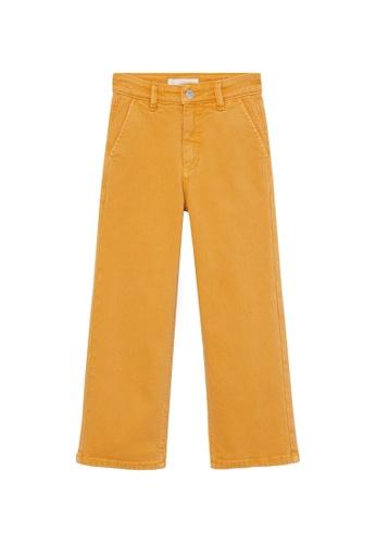 MANGO KIDS yellow High Waist Culotte Jeans 299F1KAA032A2CGS_1