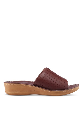 Noveni brown Slide-On Wedges DCA73SH6CD8295GS_1