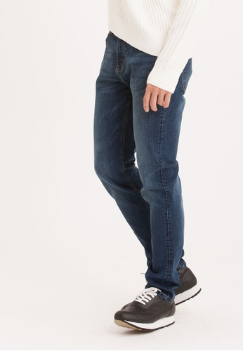 H:CONNECT blue Washed Denim Jeans 92286AAC7EE6E7GS_1