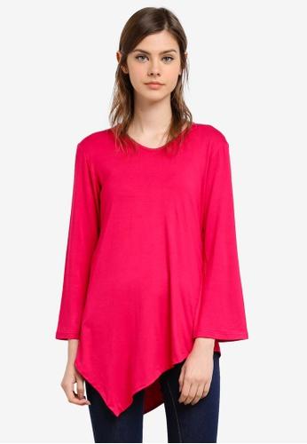 Aqeela Muslimah Wear pink Handkerchief Top AQ371AA0S4V9MY_1