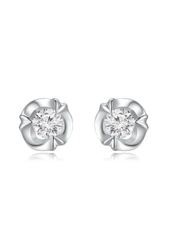 MaBelle silver 18K/750 White Gold Single Diamond Earrings 71F61ACF05D3C2GS_1