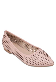 Perforated Pointed Ballerinas