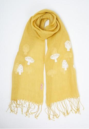 novel.mice yellow Embroidered Yellow Linen Shawl B4C9CAA97E6C37GS_1