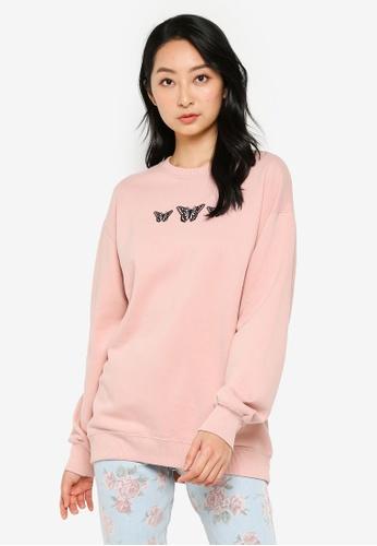 Hollister pink Trend Crew Neck Sweatshirt C9A58AA5ADC5D6GS_1