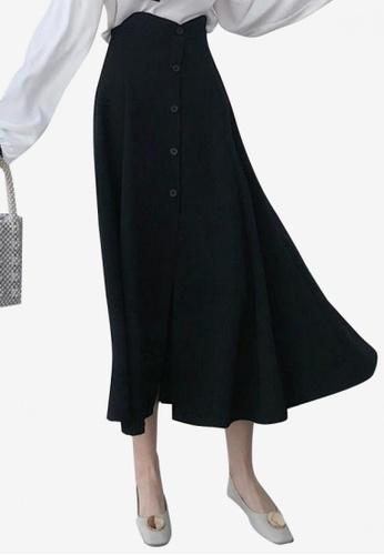 Lara black Women's Single Breasted Skirt E3DF7AAE887400GS_1