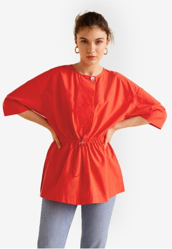 Mango red Elastic Waist Shirt 03412AA0256B0AGS_1