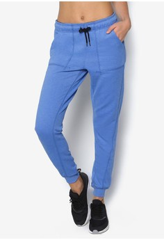 Elastic Waistband Peached Joggers