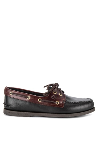 Sperry black A/O 2-EYE Boat Shoes D53DCSHCAAE847GS_1