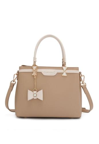PLAYBOY BUNNY brown Women's Hand Bag / Top Handle Bag / Shoulder Bag DECF2ACDBAEEF4GS_1