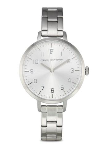 FCUK FC1248SM 數字細鍊esprit 見工錶, 錶類, 不銹鋼錶帶