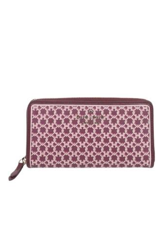 Kate Spade pink Kate Spade Large Continental WLRU6295 Spade Link Wallet In Pink Multi A23D4AC391E794GS_1