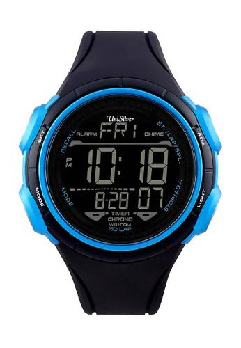 UniSilver TIME blue Genome  Digital Rubber Watch KW1487-1001 UN802AC55HIUPH_1