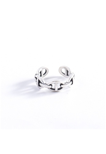 A-Excellence silver Premium S925 Sliver Geometric Ring 083A6AC432306CGS_1