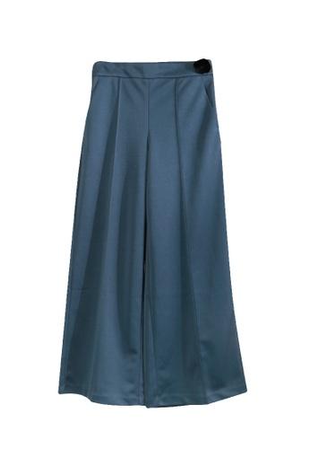 Giordano Ladies blue Gross Grain Full Length Pants 96685AACD49039GS_1